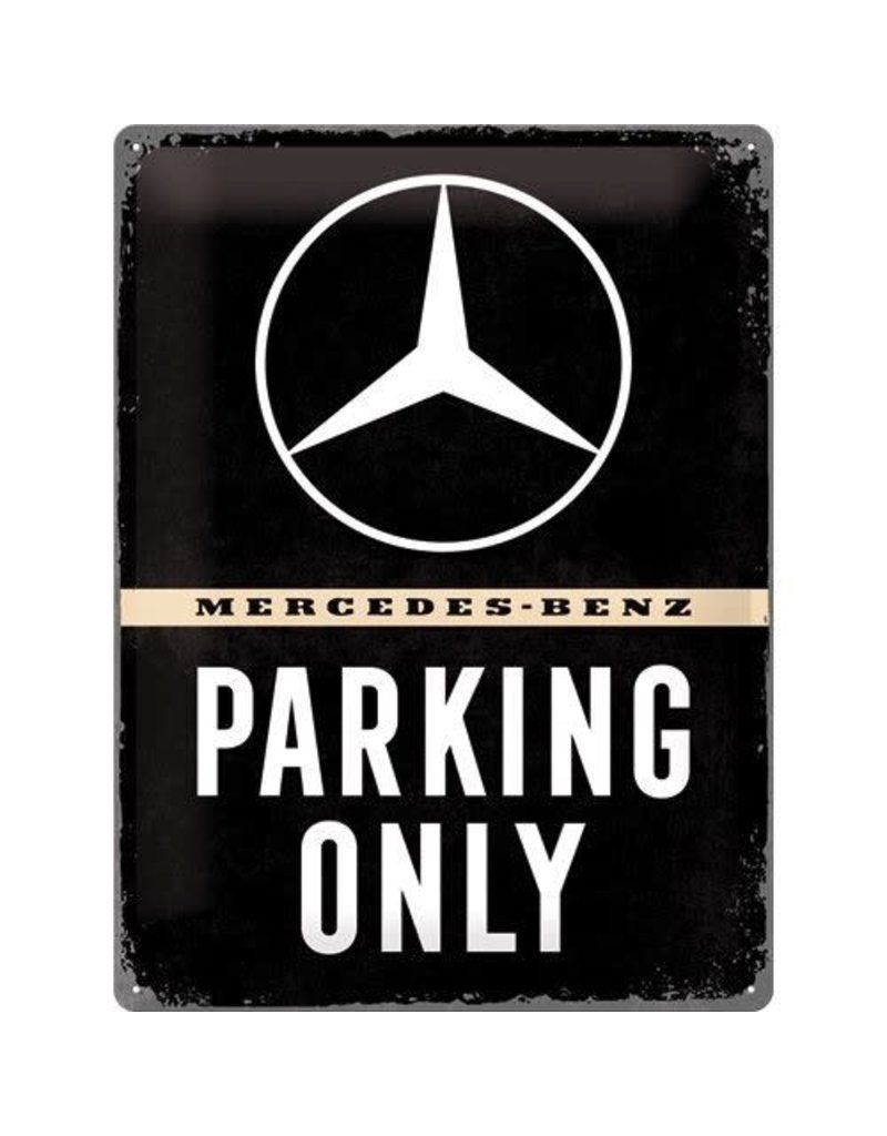 Nostalgic Art sign - Mercedes parking only (large)