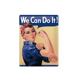 Nostalgic Art sign - we can do it (large)