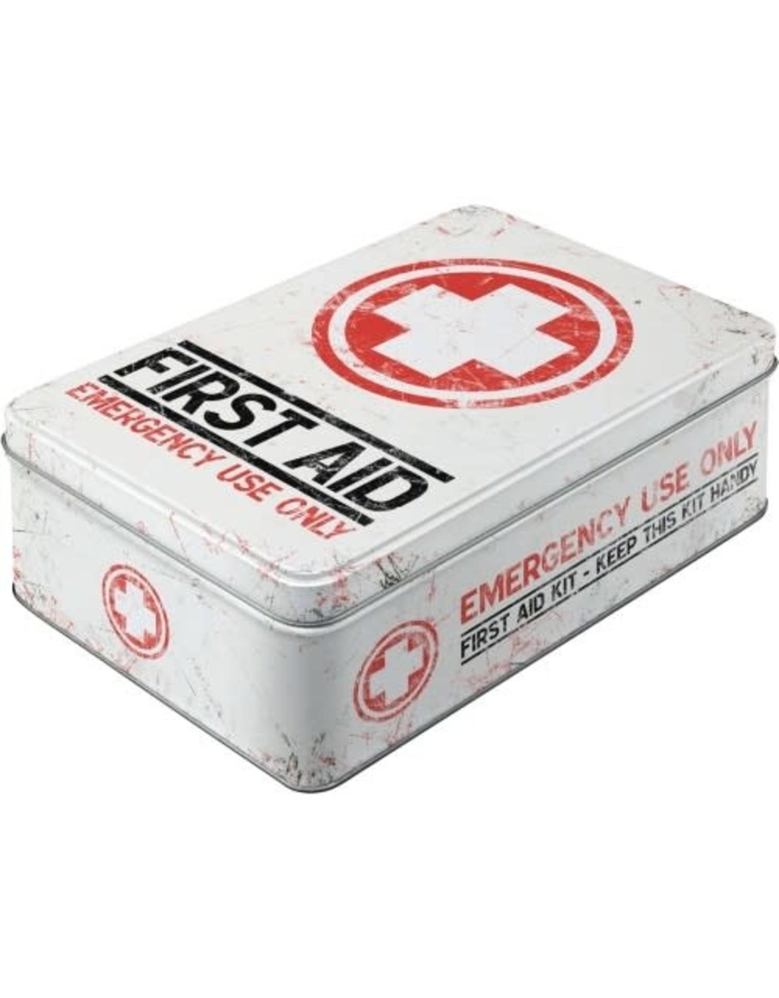 tin box - flat - first aid