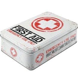blikken doos - plat - first aid