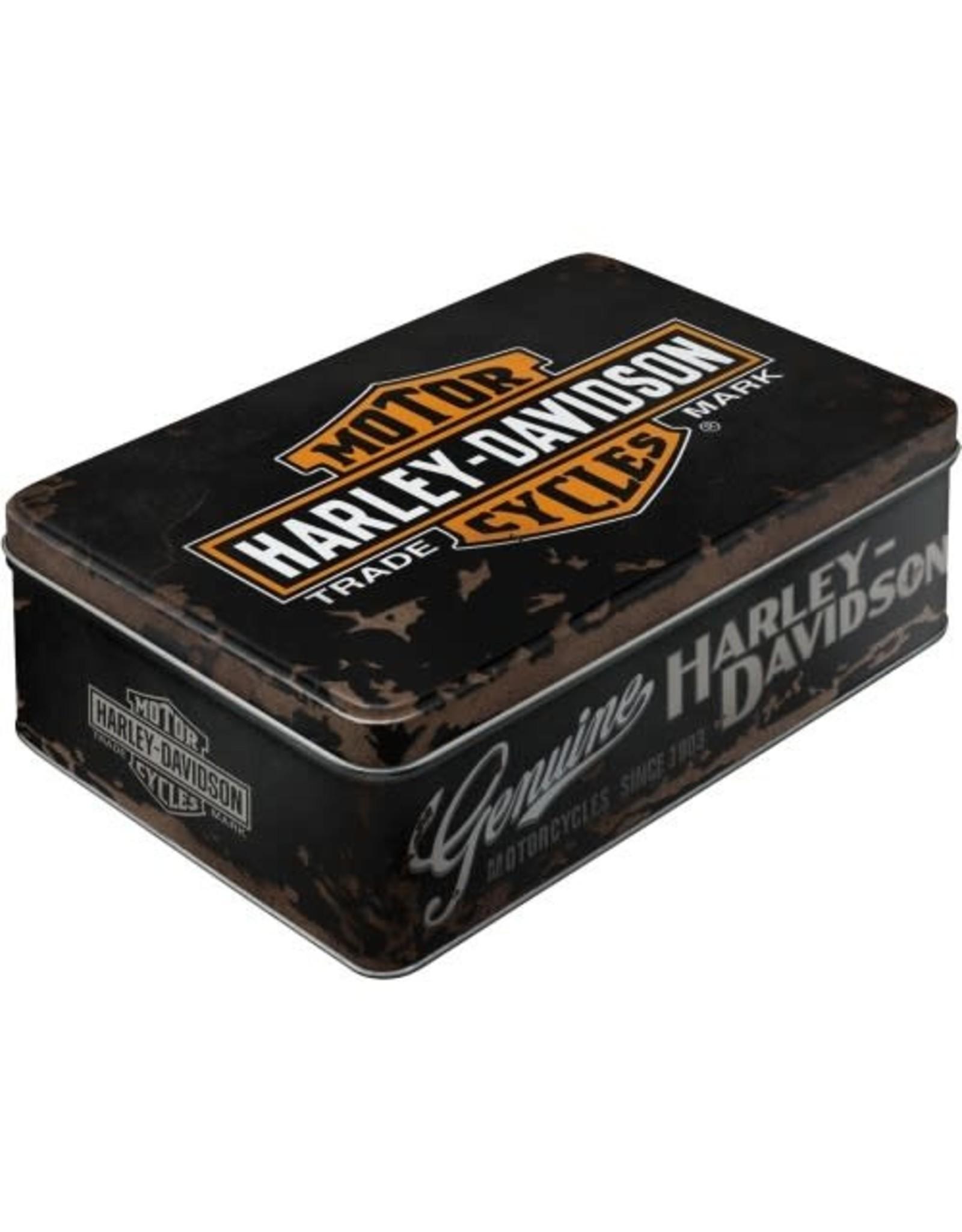 Nostalgic Art tin box - flat - Harley Davidson