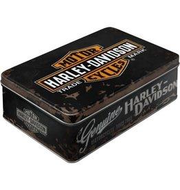 blikken doos - plat - Harley Davidson