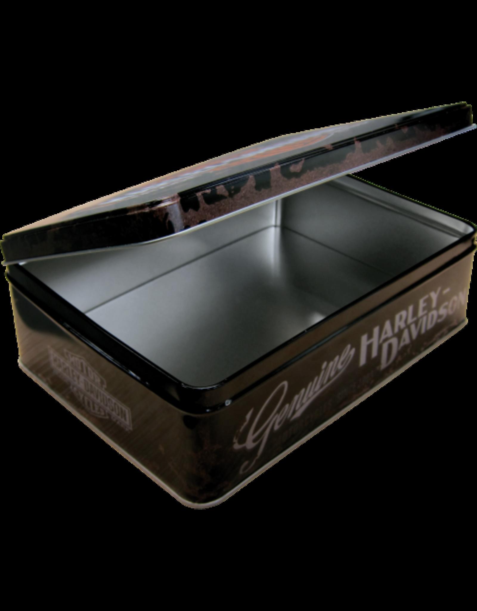 tin box - flat - Harley Davidson