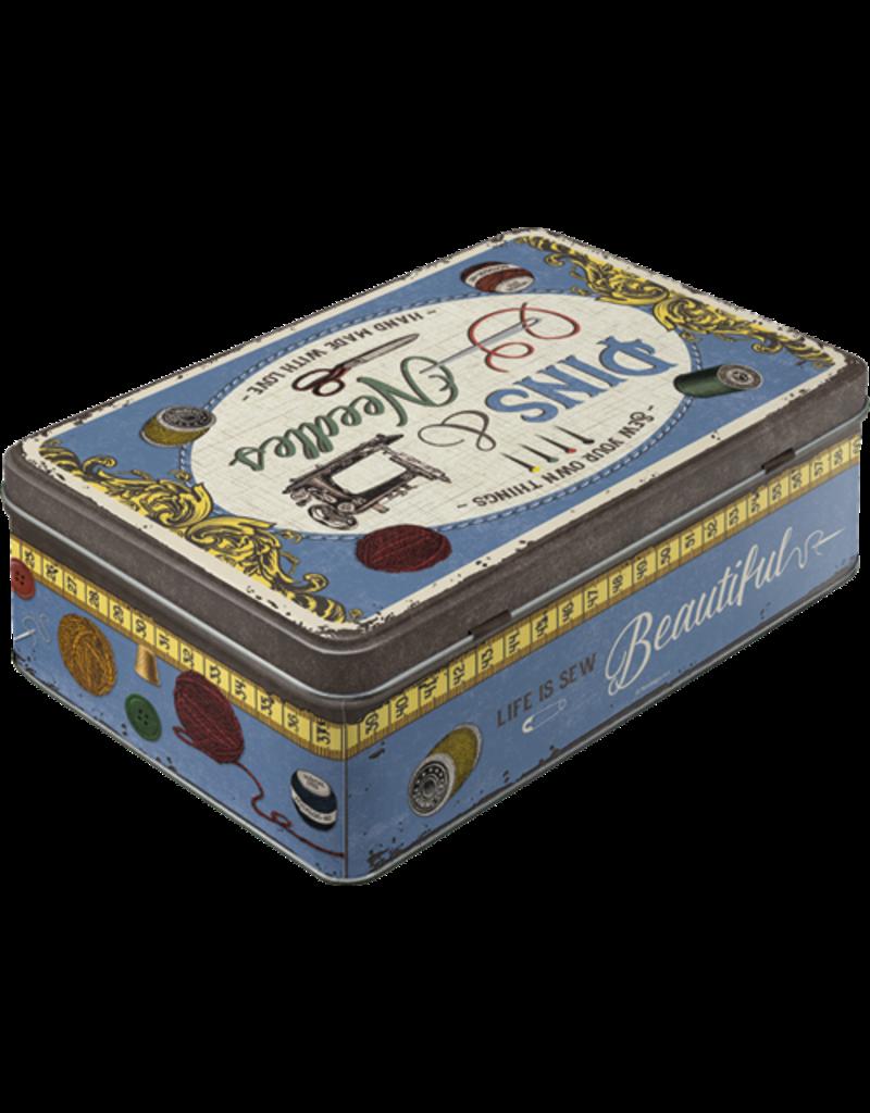 Nostalgic Art tin box - flat - pins & needles