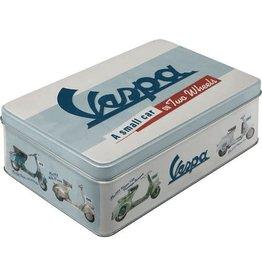 blikken doos - plat - Vespa