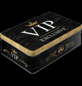blikken doos - plat - VIP