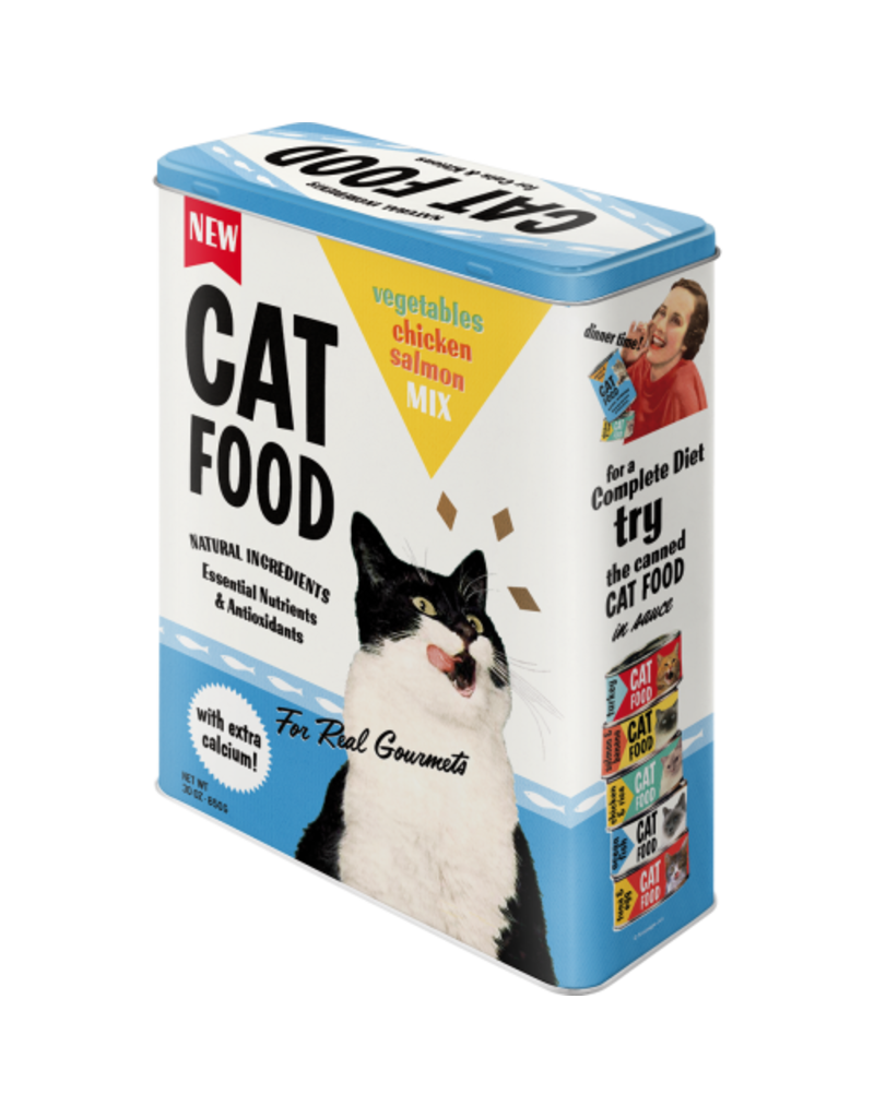 Nostalgic Art blikken doos - XL - cat food