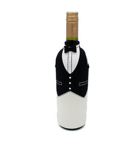 Invotis wine bottle cover - wine butler (black)