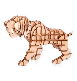 Kikkerland 3D wooden puzzle - tiger (12)