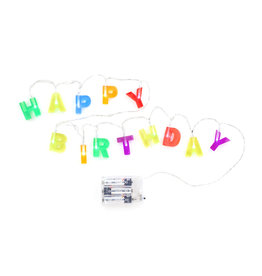 Kikkerland lights string - happy birthday