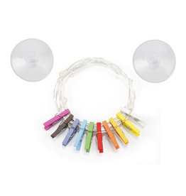 Kikkerland light string - photo clips (rainbow)