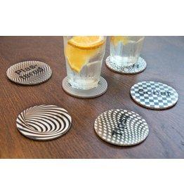 Kikkerland coasters - Drunk? (3D)