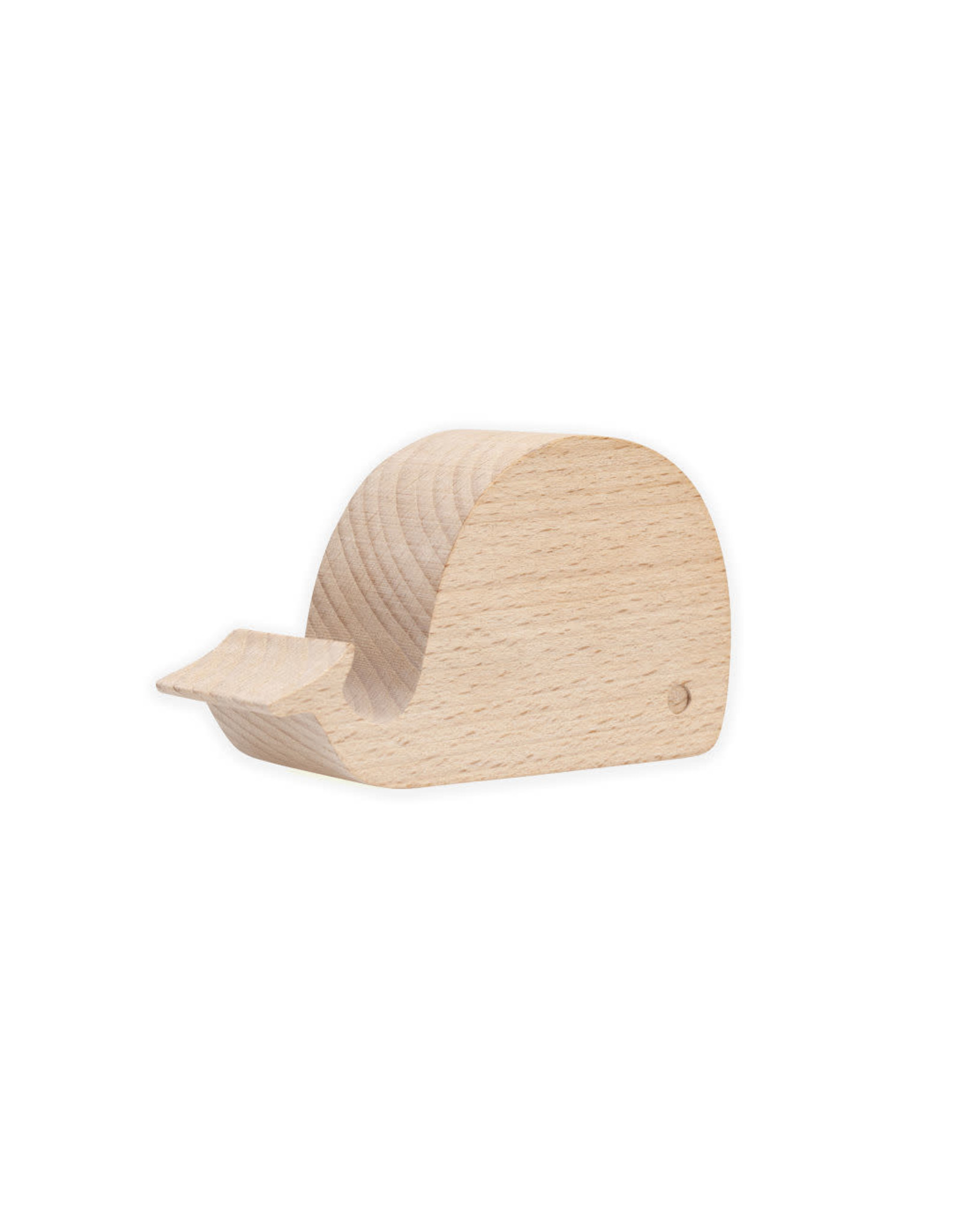 wooden mobile phone holder - whale