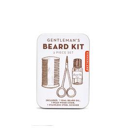 Kikkerland tin kit - gentleman's beard