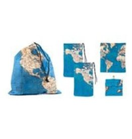 Kikkerland zakken - wereldkaart