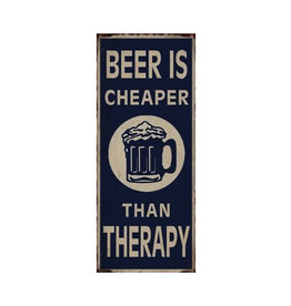 hanging sign - beer is cheaper than therapy