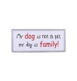 sign - my dog is family