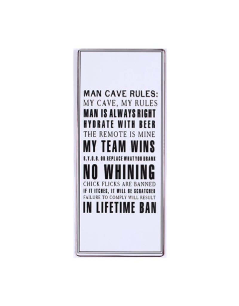 La Finesse sign - man cave rules