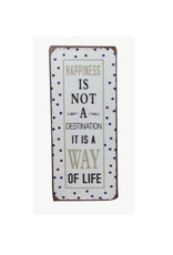 sign - happiness is not a destination