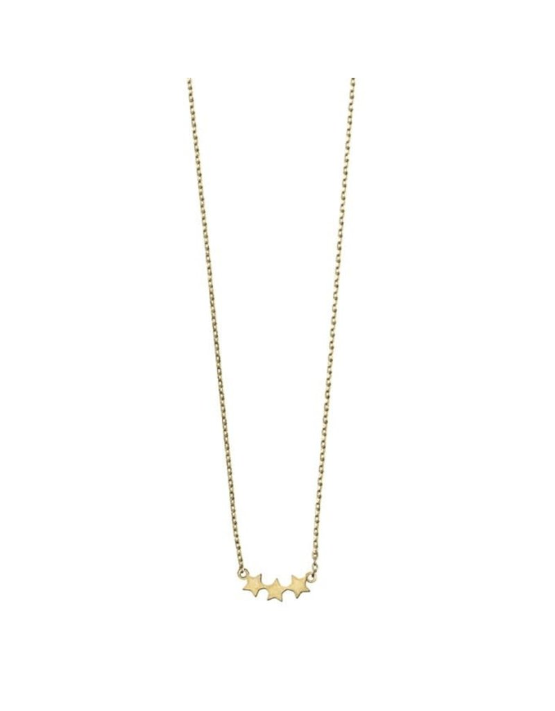 Timi necklace - 3 stars (gold)