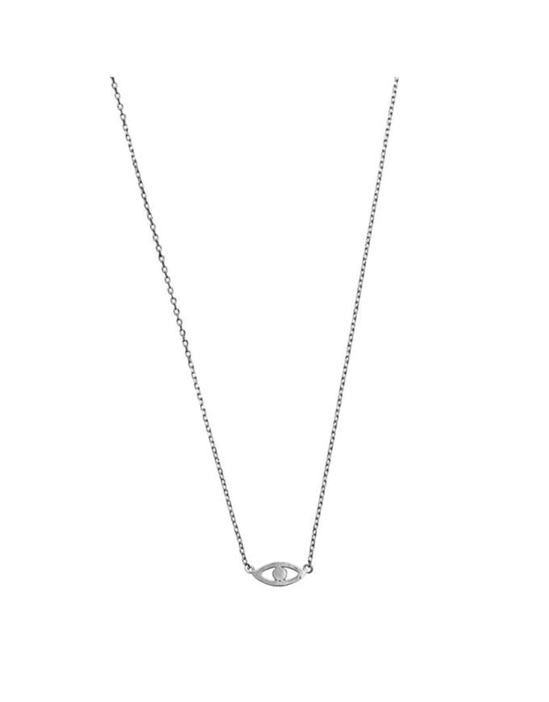 Timi necklace - evil eye (silver)
