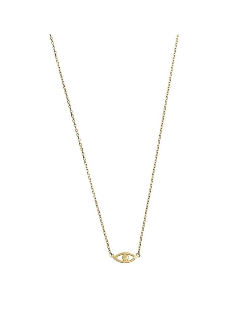 Timi necklace - evil eye (gold)