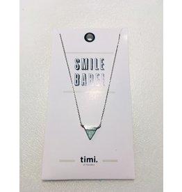 Timi ketting - driehoek met steen (zilver)