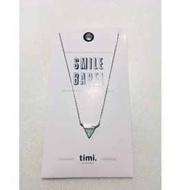 Timi necklace - triangle with stone (silver)
