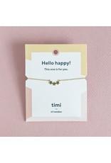 Timi bracelet - 3 stars (gold)