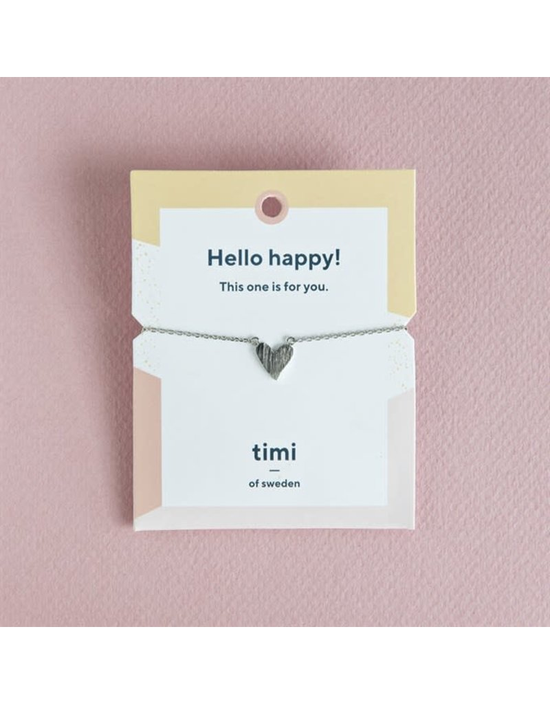 Timi armband - hart (zilver)