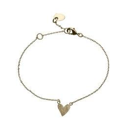Timi armband - hart (goud)