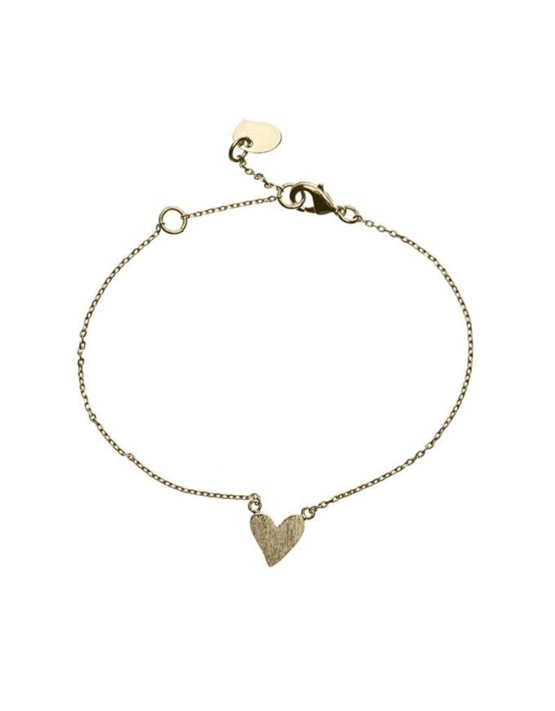 Timi bracelet - heart (gold)