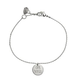 Timi armband - girl boss (zilver)