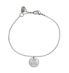 Timi bracelet - girl boss (silver)