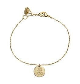 Timi armband - girl boss (goud)