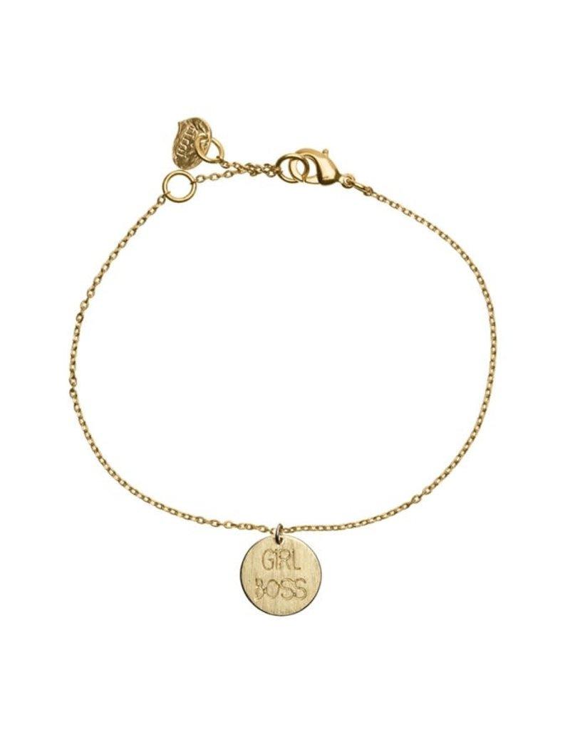 Timi bracelet - girl boss (gold)