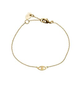 Timi bracelet - evil eye (gold)