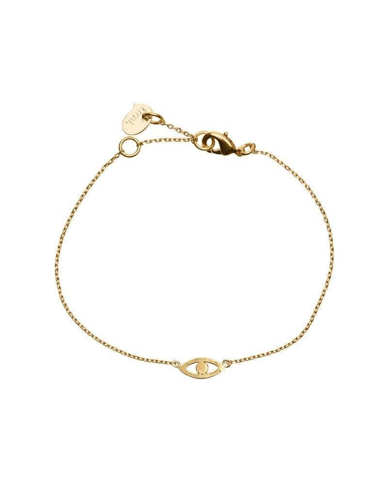 Timi bracelet - evil eye (gold)