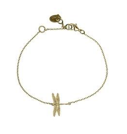 Timi bracelet - dragonfly (gold)
