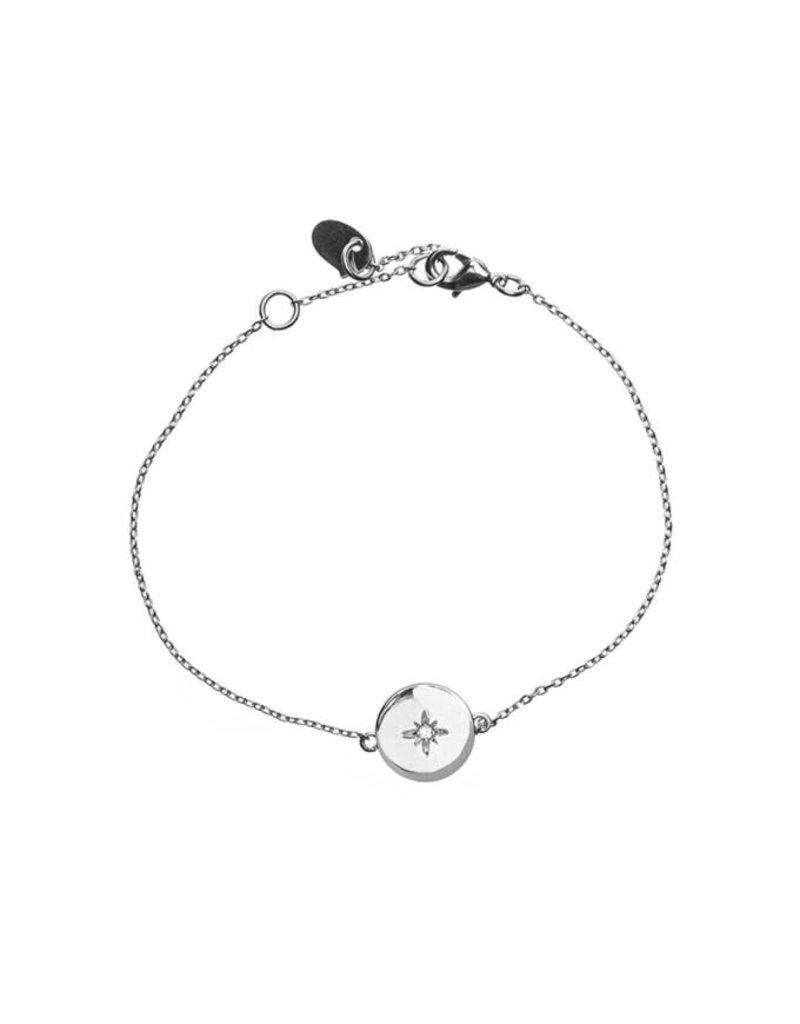 Timi bracelate - star plate (silver)