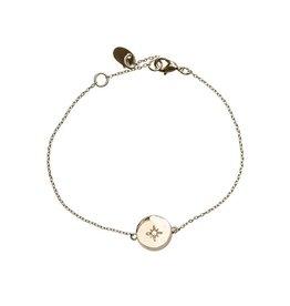 Timi bracelet - star plate (gold)