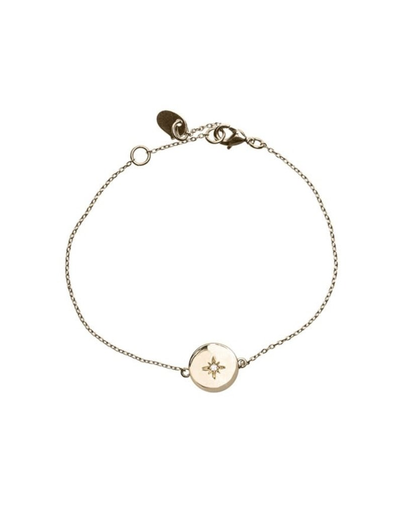 Timi armband - sterplaat (goud)