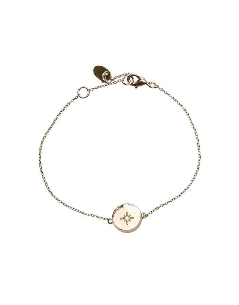 Timi bracelate - star plate (gold)