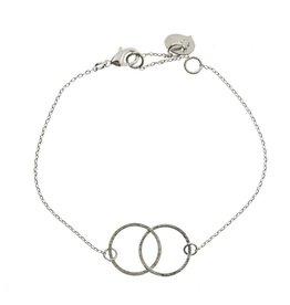 armband - dubbele cirkel (zilver)