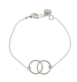 Timi bracelet - double circle (silver)