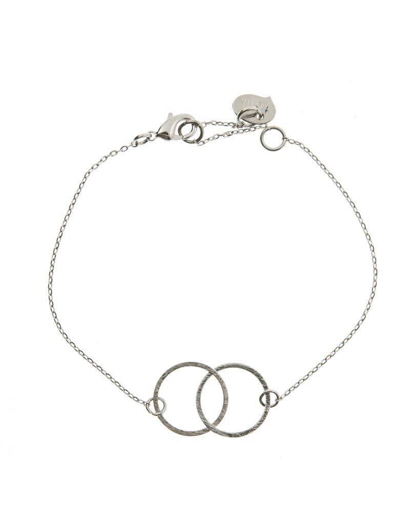 Timi armband - dubbele cirkel (zilver)
