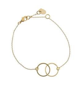 Timi armband - dubbele cirkel (goud)
