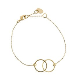 Timi bracelet - double circle (gold)