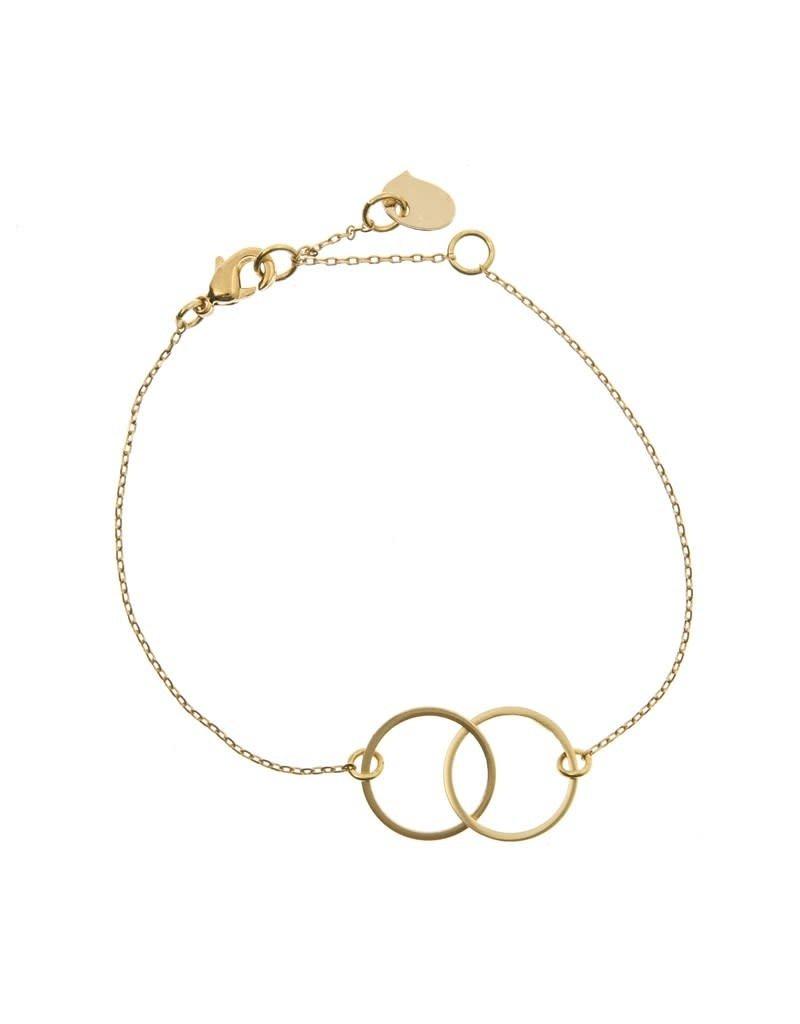 Timi bracelet - double circle (gold)
