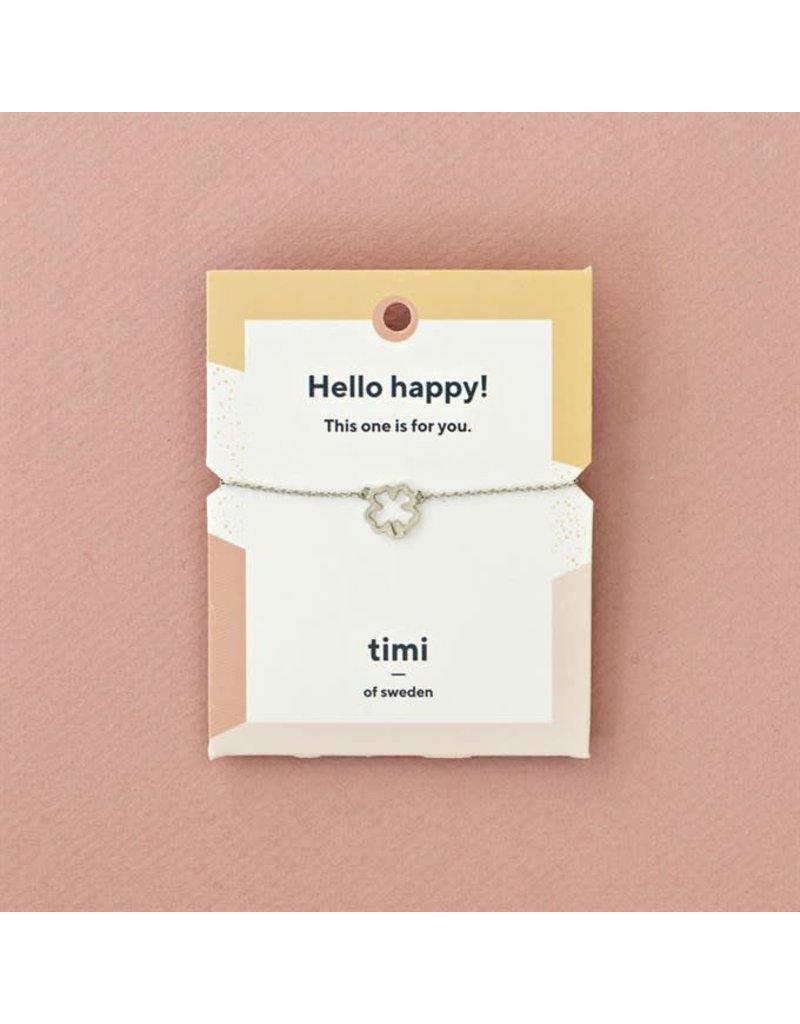 Timi bracelet - 4-leaf clover (silver)
